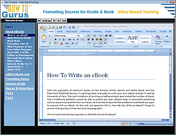 Formatting Secrets for Kindle and Nook eBooks