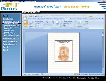 Microsoft Word 2007 Tutorial Training Video